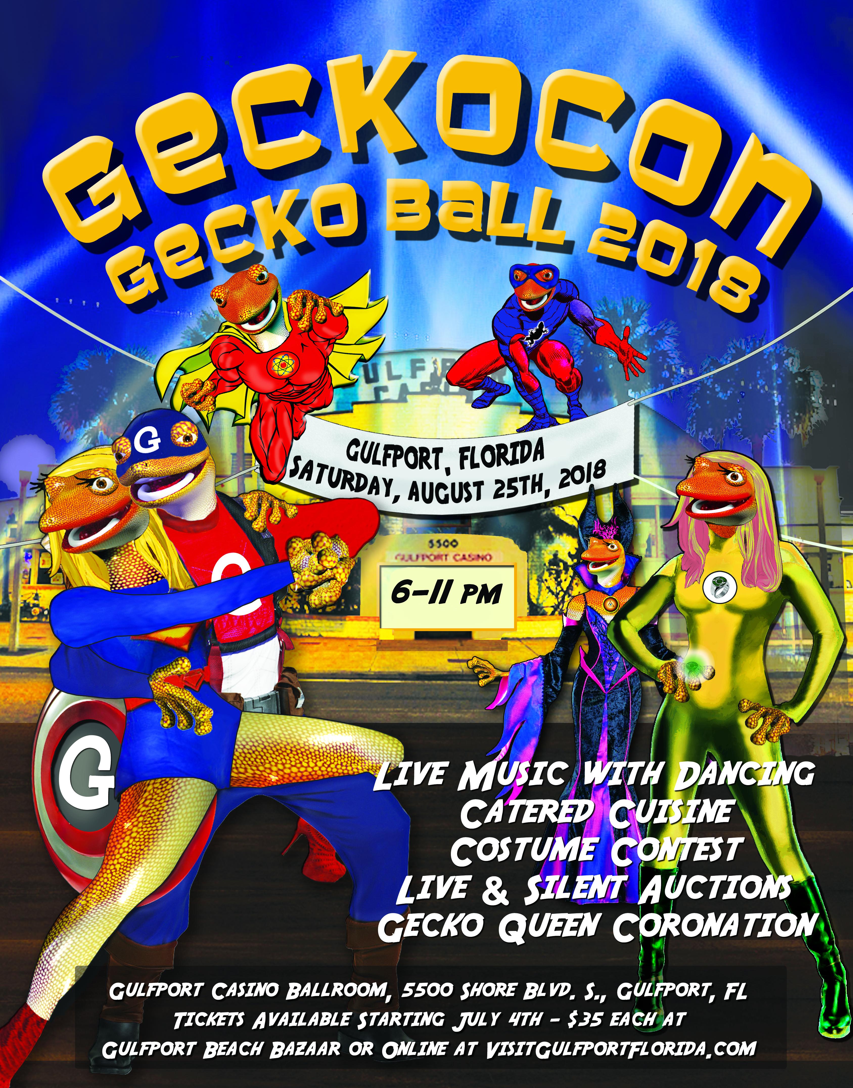 Gecko Ball 2018 poster