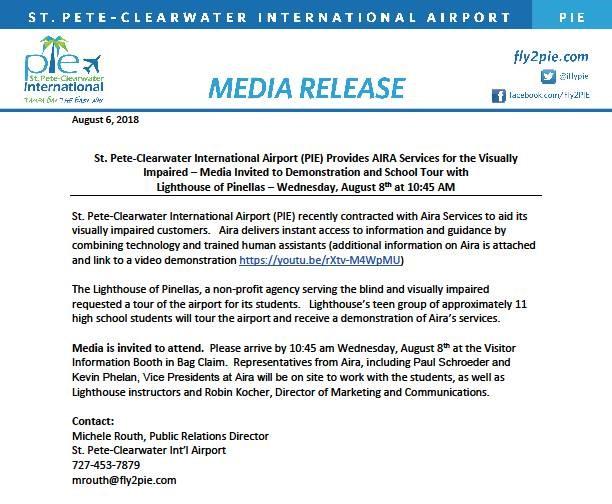 PIE Media release